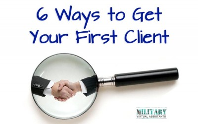 Six Ways to Get Your First Client